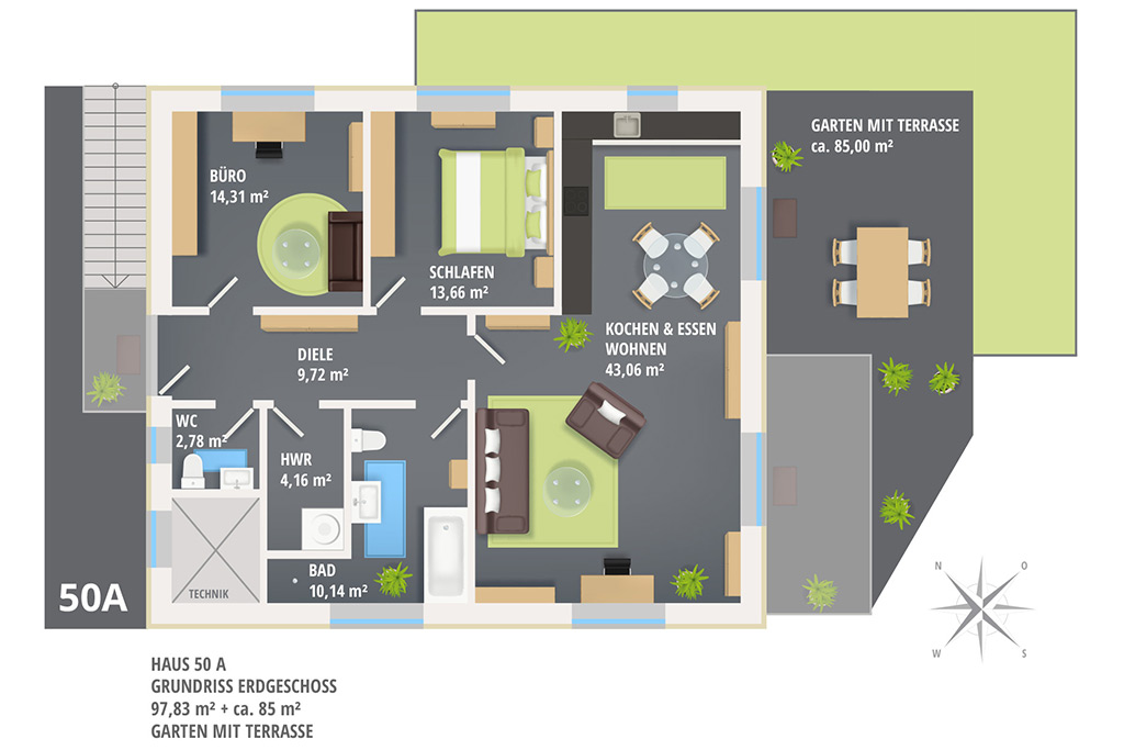 Wohnung mieten in Neubau-2-Familienhaus in Henstedt-Ulzburg Süd (Rhen)